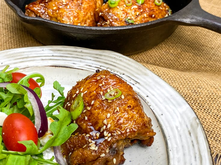 chicken thighs on a plate