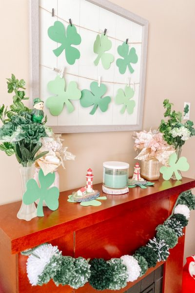 Pom Pom Garland for St Patrick's Day