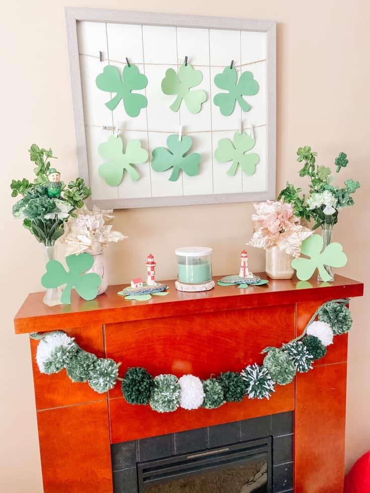 green pom pom wreath