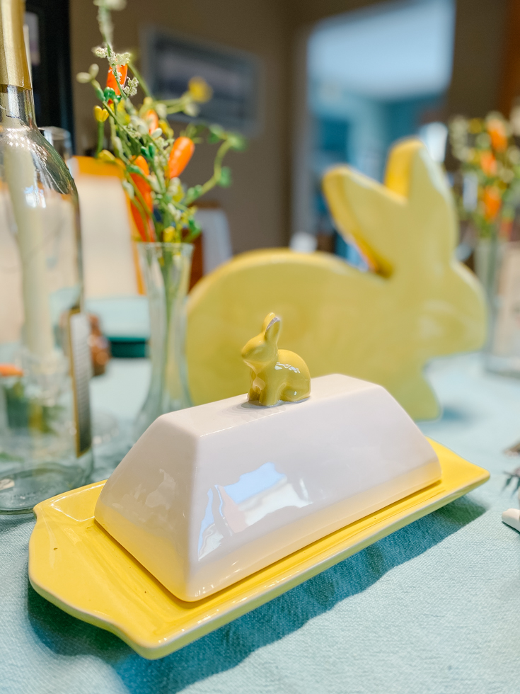 bunny butter dish