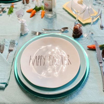 happy easter place setting