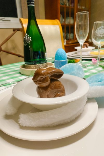Ready, Set,tablescape with Bunny Ears