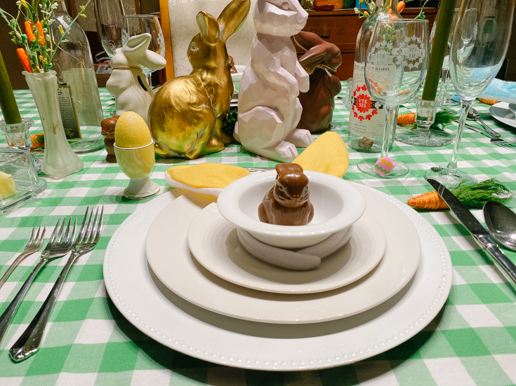 some bunny is easter ready table