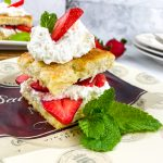 classic strawberry shortcake on a plate