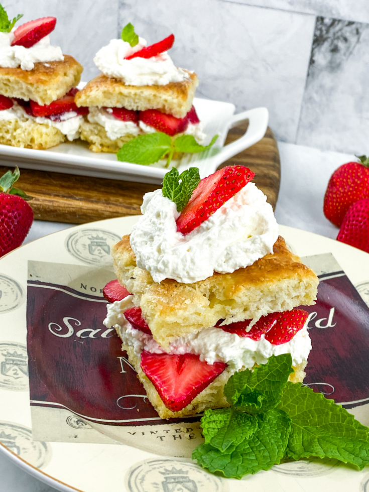 biscuits and strawberries to make classic strawberry shortcake