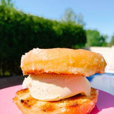 honey glazed bbq donut