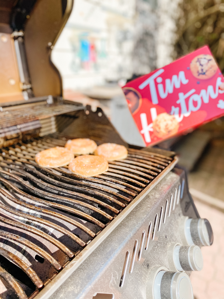 tim horton donuts and a bbq