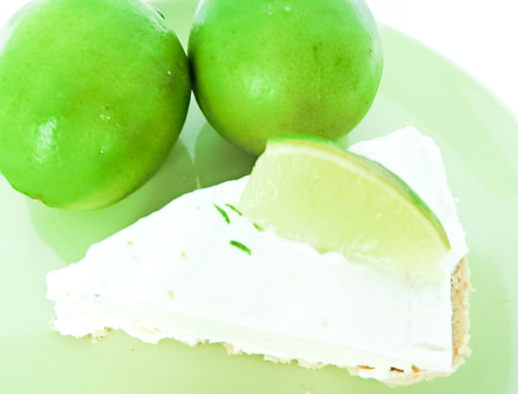 frozen pie with limes