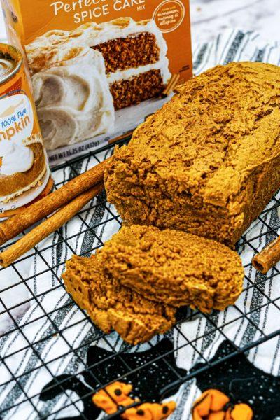 Easy Pumpkin Spice Bread (2 Ingredient)