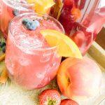 glass of berry pech sangria
