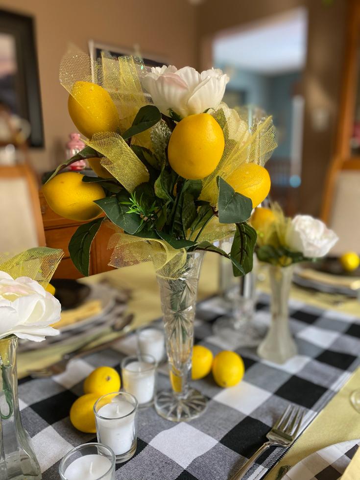 lemon centrepiece