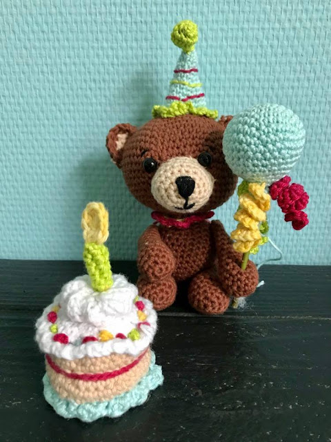 birthday bear crochet