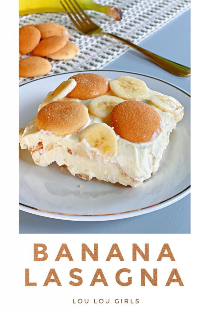 banana pudding on a plate