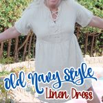 old navy linen dress and brogues