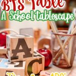 back to school table pin