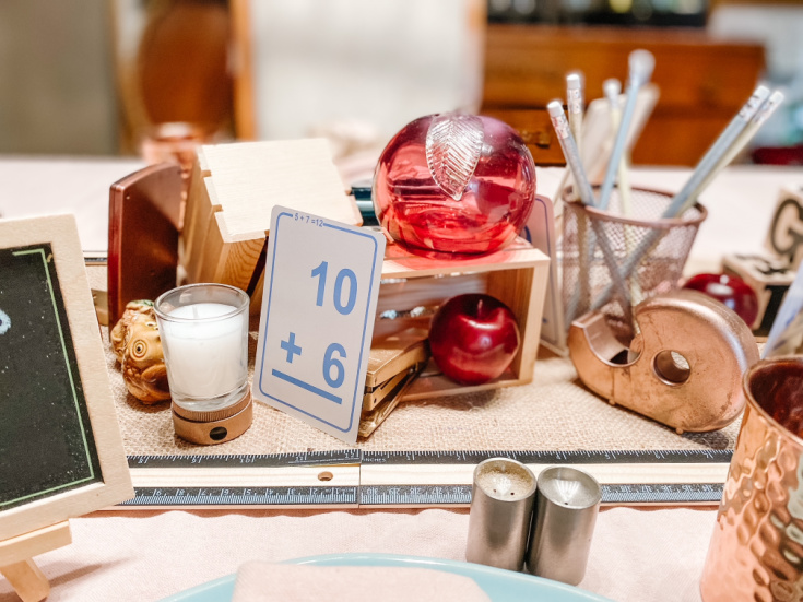 the table for back to school fun.