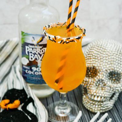 halloween rum cocktail