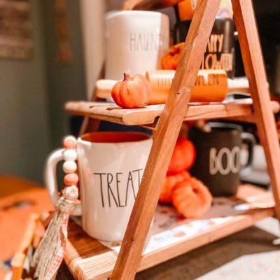 halloween tier tray decor