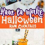 halloween rum cocktail pin