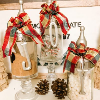homemade apothecary jars for the holidays
